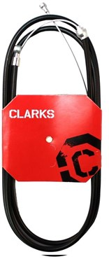 Clarks Universal Stainless Steel Brake Cable w/2P Black Outer Casing