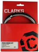 Clarks Stainless Steel Brake Cable Kit Brake 2P Housing