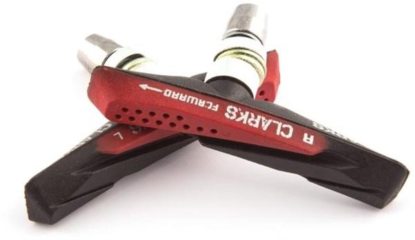 Clarks 72mm MTB/Hybrid V Brake Pads - Aqua Glide Design