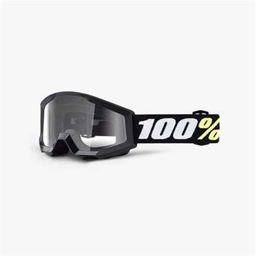 100% Strata Mini Anti-Fog Clear Lens MTB Goggles