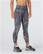 2XU Mid-Rise Print Womens 7/8 Compression Tights