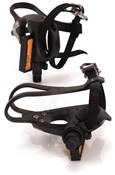 Product image for XLC Road Pedals and Toe Straps Plastic (PD-R01)
