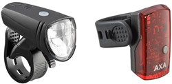 AXA Bike Security Greenline 15 Lux Light Set