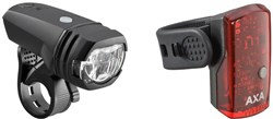 AXA Bike Security Greenline 50 Lux Light Set