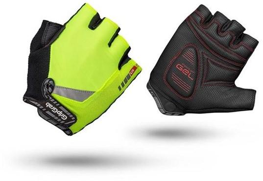 GripGrab ProGel Hi Vis Mitts / Short Finger Cycling Gloves