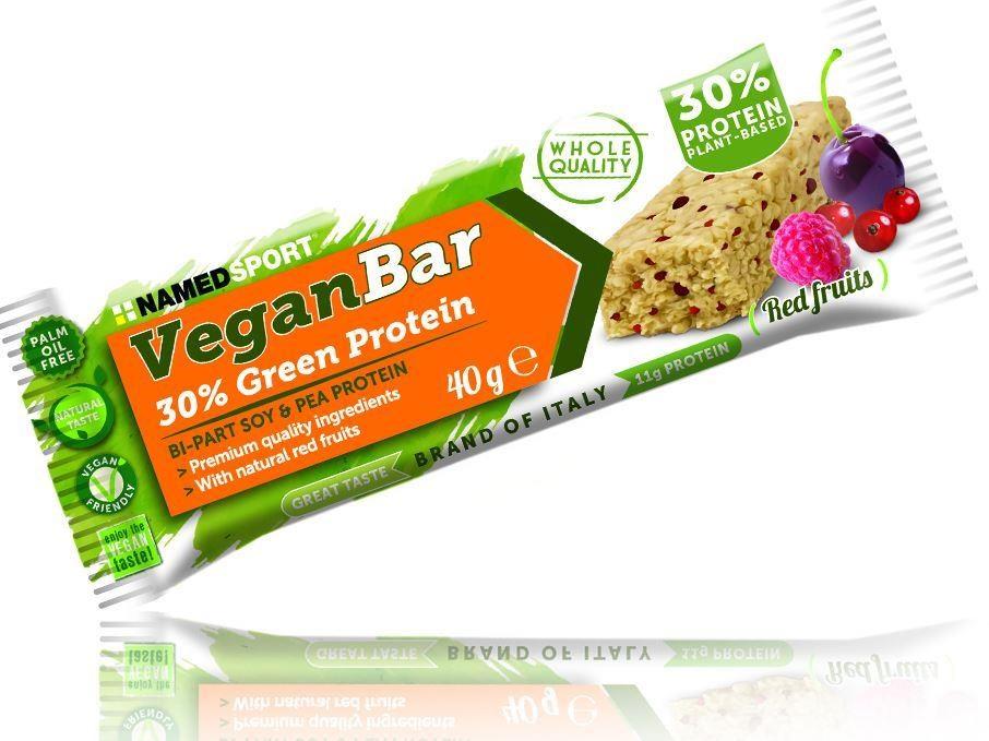 Namedsport Vegan Protein Bar - 40g Box of 24 | Protein bar and powder