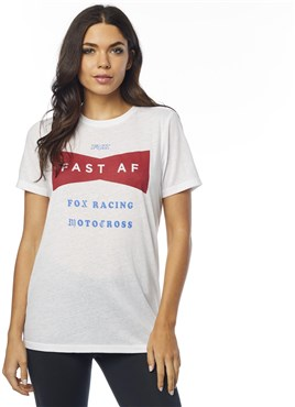 Fox Clothing Fast AF Womens Short Sleeve BF Crew Top