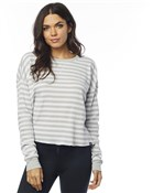 Product image for Fox Clothing Striped Out Womens Long Sleeve Thermal Crop Top