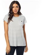 Fox Clothing Striped Out Womens Short Sleeve Crew