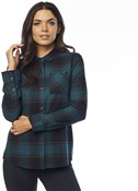 Fox Clothing Kick It Womens Long Sleeve Flannel Shirt