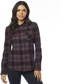 Fox Clothing Kick It Womens Long Sleeve Flannel Shirt