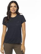 Fox Clothing Washed Out Womens Short Sleeve Pocket Crew Tee