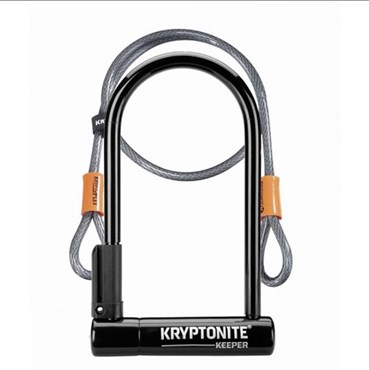 Kryptonite Keeper 12 Standard with  Flex Sold Secure Silver