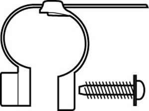 Cateye Universal Light Clamp 18-40mm Rear