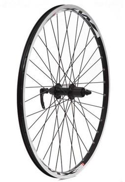 """Tru-Build 26"""" Rear MTB Wheel Mach1 MX26 Alloy Double Wall Rim 36H 8/9 Speed Freehub QR"""