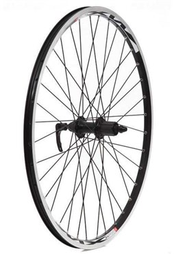 "Tru-Build 26"" Rear MTB Wheel Mach1 MX26 Alloy Double Wall Rim 36H 8/9 Speed Freehub QR"
