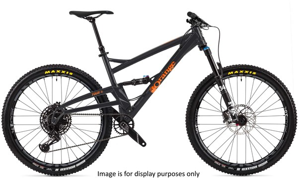 "Orange Four Pro 27.5"" Mountain Bike 2019 - Trail Full Suspension MTB"