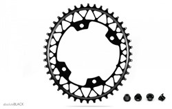 Product image for absoluteBLACK Gravel 1x Oval 110 Bcd X4 Chainring