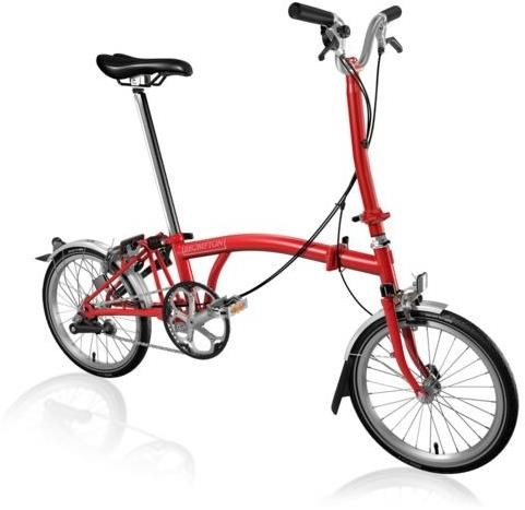 Brompton H3L - Red 2019 - Folding Bike | Folding
