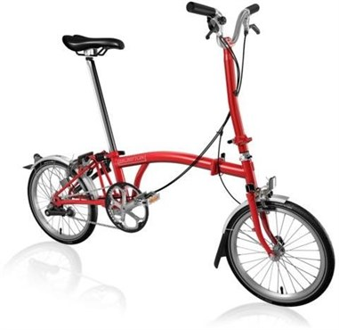 Brompton H3L - Red 2019 - Folding Bike | Foldecykler