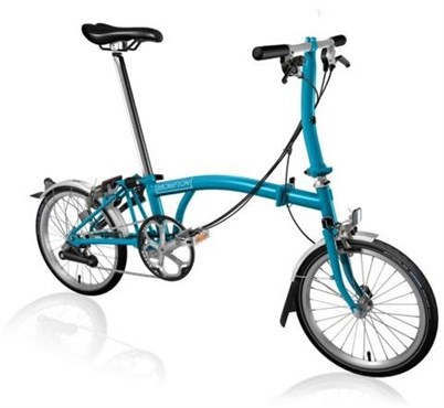 Brompton S6L - Lagoon Blue 2019 - Folding Bike | Folding