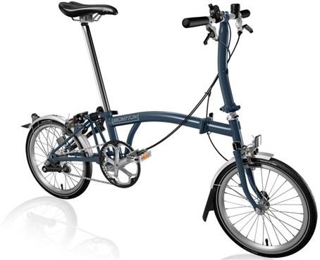 Brompton S3L - Tempest Blue 2019 - Folding Bike | Foldecykler