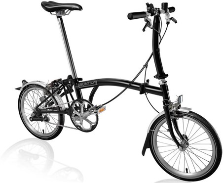 Brompton S3L - Black 2019 - Folding Bike | Foldecykler