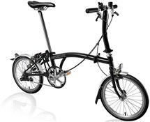 Product image for Brompton S3L - Black 2019 - Folding Bike