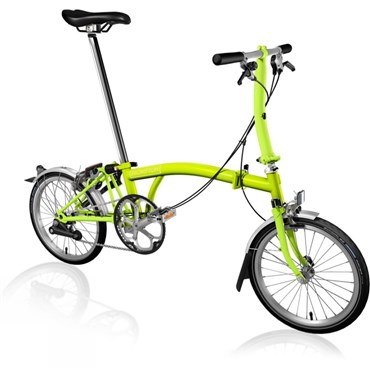 Brompton S2L - Lime 2019 - Folding Bike | Foldecykler