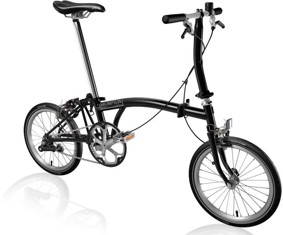 Brompton S1E - Black 2020 - Folding Bike | Folding