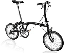 Product image for Brompton S1E - Black 2019 - Folding Bike