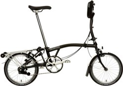 Product image for Brompton P6R - Black 2019 - Folding Bike
