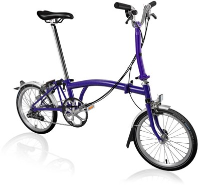 Brompton M6L - Purple Metallic 2019 - Folding Bike | Folding