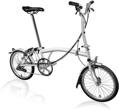 Brompton M6L - Papyrus White 2019 - Folding Bike | Foldecykler