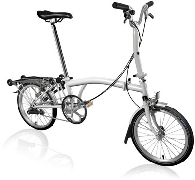 Brompton M3R - Papyrus White 2019 - Folding Bike | Foldecykler