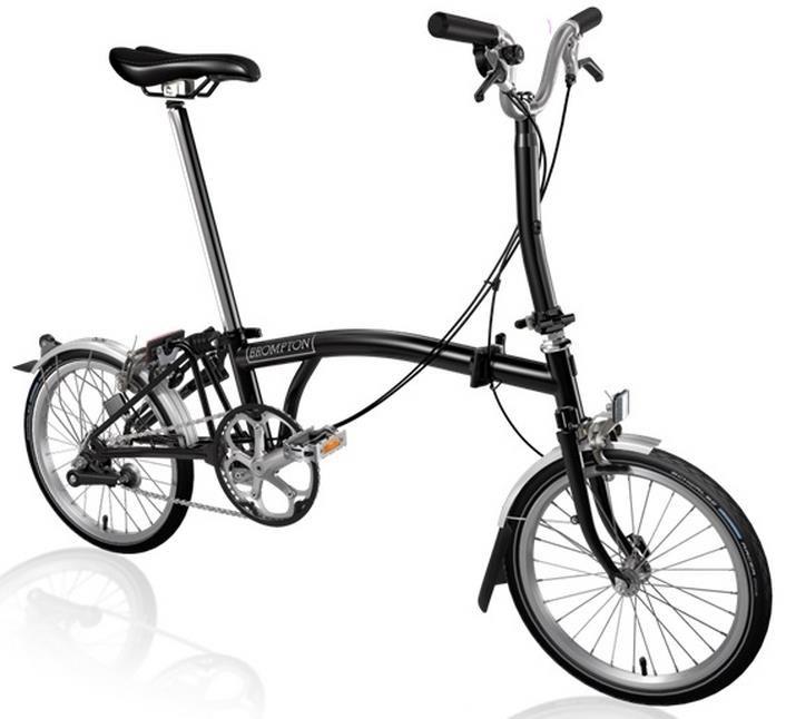 Brompton M3L - Black 2020 - Folding Bike | Folding