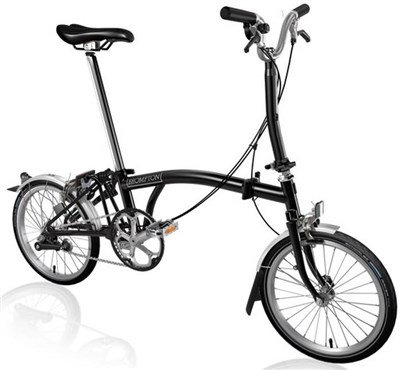 Brompton M3L - Black 2019 - Folding Bike | Foldecykler