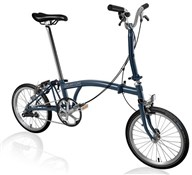 Product image for Brompton M3E - Tempest Blue 2019 - Folding Bike
