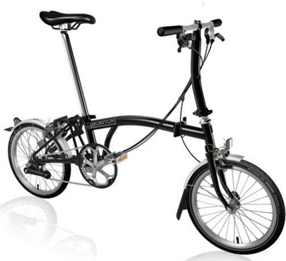 Brompton S6L - Black 2019 - Folding Bike | Foldecykler