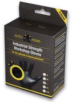 Black Mamba Black Mamba Nitrile Workshop Gloves - 8 Pack   Værktøj