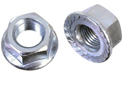 "Product image for ID Flanged Axle 3/8"" Wheels Nuts"