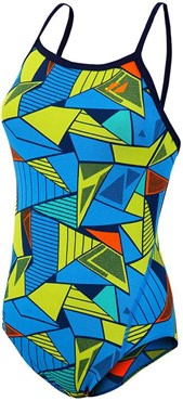 Zone3 Girls Prism 2.0 Strap Back Swimming Costume