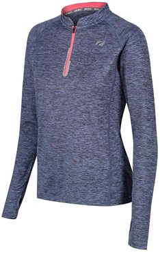 Zone3 Zip Soft-Touch Technical Womens Long Sleeve T-Shirt