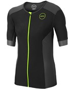 Product image for Zone3 Aquaflo Plus Short Sleeve Tri Top