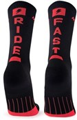 M2O Ride Fast Crew Plus Compression Socks