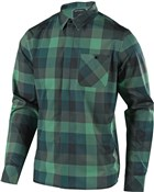 Troy Lee Designs Grind Plaid Flannel Long Sleeve Shirt
