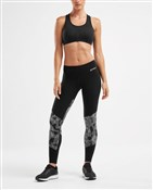 2XU Fitness Mid-Rise Colour Block Womens Tights