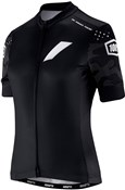 Product image for 100% Exceeda Womens Full Zip Short Sleeve Jersey