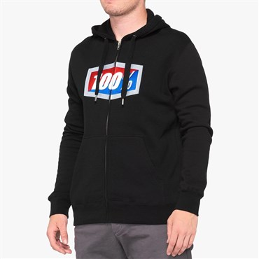 100% Official Zip Hooded Sweatshirt