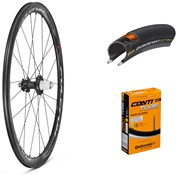 Product image for Fulcrum Racing Quattro Carbon Disc 700c Wheelset with Tyres and Tubes